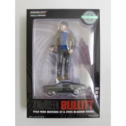 "Steve McQueen figuur uit ""Bullit"" *1/18* + Ford Mustang GT *1/64*"